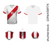 set of t shirts and flags of... | Shutterstock .eps vector #1096458974