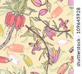 vector seamless floral pattern | Shutterstock .eps vector #109645928