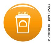 coffee selling icon. simple... | Shutterstock .eps vector #1096469288