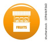 fruits selling icon. simple... | Shutterstock .eps vector #1096469360