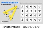 navigation icon set proper... | Shutterstock .eps vector #1096470179