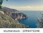 picturesque village rising... | Shutterstock . vector #1096473248