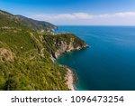 picturesque village rising... | Shutterstock . vector #1096473254