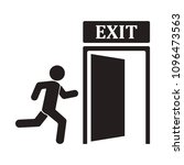 emergency icon of exit sign... | Shutterstock .eps vector #1096473563