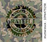 grateful on camouflaged pattern | Shutterstock .eps vector #1096475258