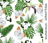seamless vector pattern with... | Shutterstock .eps vector #1096475366