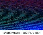 computer data code. abstract...   Shutterstock . vector #1096477400