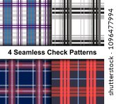 set of stylish seamless... | Shutterstock .eps vector #1096477994