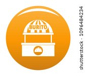 burito selling icon. simple... | Shutterstock .eps vector #1096484234