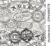new york city stamp vector art... | Shutterstock .eps vector #1096488578