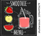 useful smoothie in sketch style ... | Shutterstock .eps vector #1096495679