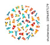 vector illustration  set of... | Shutterstock .eps vector #1096497179