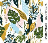 seamless floral summer pattern... | Shutterstock .eps vector #1096498676