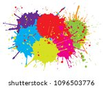 abstract splash background... | Shutterstock .eps vector #1096503776