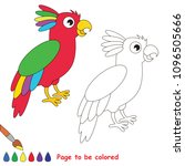 parrot bird to be colored  the... | Shutterstock .eps vector #1096505666