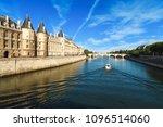 the historic river seine in... | Shutterstock . vector #1096514060