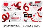 vector new memphis style banner ... | Shutterstock .eps vector #1096514693