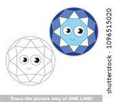 drawing worksheet for preschool ... | Shutterstock .eps vector #1096515020