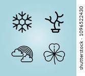 outline nature 4 vector icons...