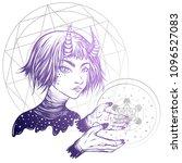 vector illustration. space... | Shutterstock .eps vector #1096527083