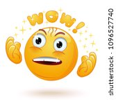 cute enraptured emotions emoji. ...   Shutterstock .eps vector #1096527740