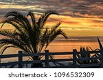 Beautiful Ocean Sunset With...