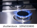 blue fire in gas burner. gas... | Shutterstock . vector #1096533800