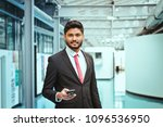 indian businessman with... | Shutterstock . vector #1096536950