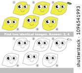 the educational kid matching... | Shutterstock .eps vector #1096541993