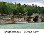 Tour Boat On Lake Superior At...