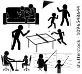 communication of generations... | Shutterstock .eps vector #1096548644