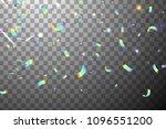 falling shiny glitter rainbow... | Shutterstock .eps vector #1096551200