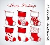 illustration of  red christmas... | Shutterstock .eps vector #109655129
