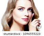 beautiful blonde girl portrait  ... | Shutterstock . vector #1096555223