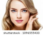 beautiful blonde girl portrait  ... | Shutterstock . vector #1096555433