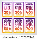 collection of summer sale... | Shutterstock .eps vector #1096557440