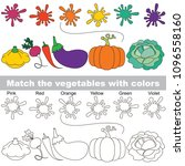 vegetable and colors set to... | Shutterstock .eps vector #1096558160