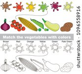 vegetable rainbow set to find... | Shutterstock .eps vector #1096558916