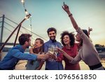 cropped shot of a group of... | Shutterstock . vector #1096561850