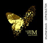 butterflies golden abstraction. ... | Shutterstock .eps vector #1096563704
