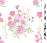 seamless floral background.... | Shutterstock .eps vector #1096563968