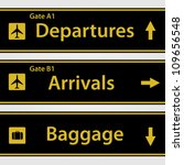 Airport Signs Vector...