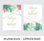 geometry wedding invitation...   Shutterstock .eps vector #1096565660