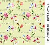 seamless watercolor wallpaper... | Shutterstock . vector #1096569476