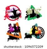big music event. background... | Shutterstock .eps vector #1096572209