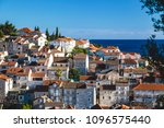 beautiful stacked houses in...   Shutterstock . vector #1096575440