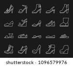 Shoes Thin Line Icons Set....