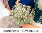 bridesmaid in a beautiful dress ... | Shutterstock . vector #1096583210