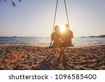 beach holidays for romantic... | Shutterstock . vector #1096585400