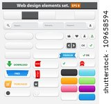 web design elements set white.... | Shutterstock .eps vector #109658594